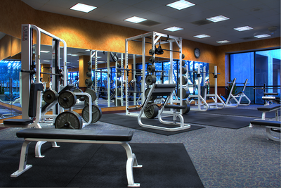 exercise equipment in fitness center