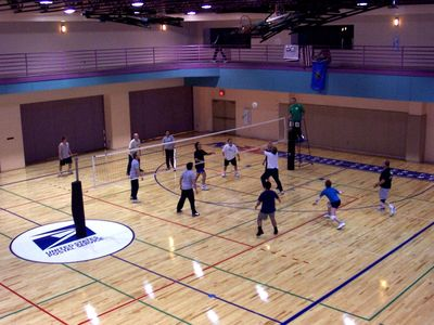 people playing indoor volleyball
